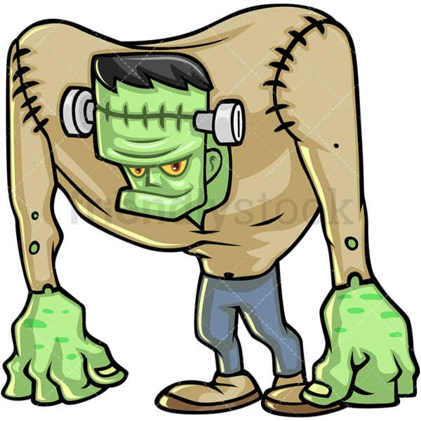 Frankenstein monster cartoon character. PNG - JPG and vector EPS (infinitely scalable).