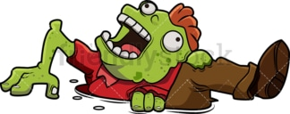 Funny zombie coming out of the ground cartoon. PNG - JPG and vector EPS (infinitely scalable).