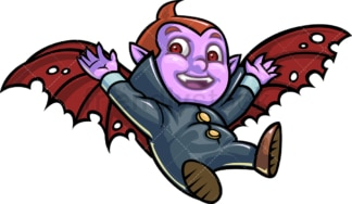 Little boy dracula. PNG - JPG and vector EPS (infinitely scalable).