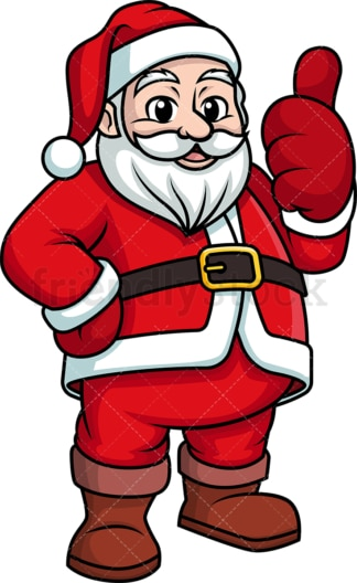 Santa claus giving the thumbs up. PNG - JPG and vector EPS (infinitely scalable).