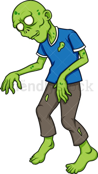 Green zombie. PNG - JPG and vector EPS (infinitely scalable).