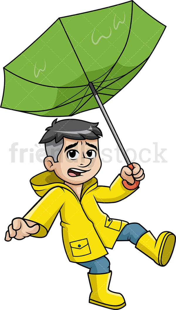 Man caught in storm getting blown away by the wind. PNG - JPG and vector EPS (infinitely scalable).