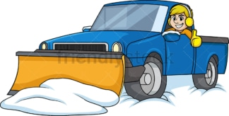 Man in snow plow vehicle. PNG - JPG and vector EPS (infinitely scalable).