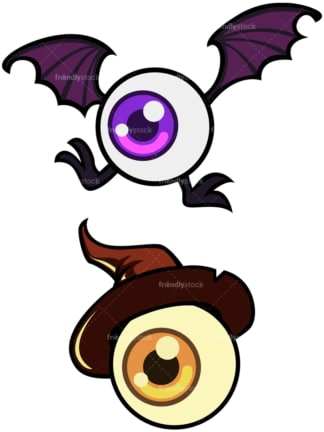 Creepy eyeball monsters. PNG - JPG and vector EPS file formats (infinitely scalable). Image isolated on transparent background.
