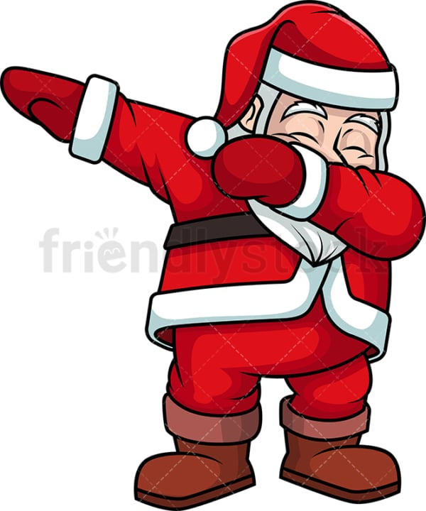 Dabbing santa claus. PNG - JPG and vector EPS (infinitely scalable).