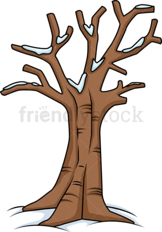 Leafless tree with snow on it. PNG - JPG and vector EPS (infinitely scalable).