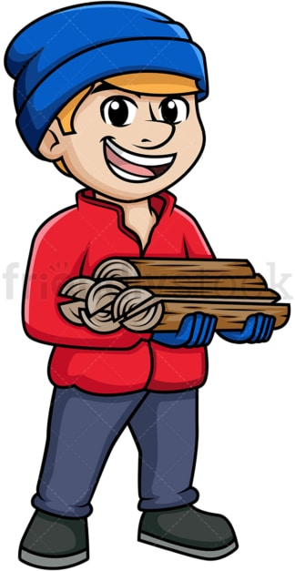 Man carrying firewood. PNG - JPG and vector EPS (infinitely scalable).