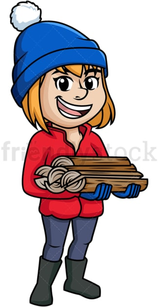 Woman carrying firewood. PNG - JPG and vector EPS (infinitely scalable).