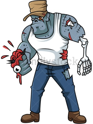 Brutal gangster zombie cartoon. PNG - JPG and vector EPS (infinitely scalable).