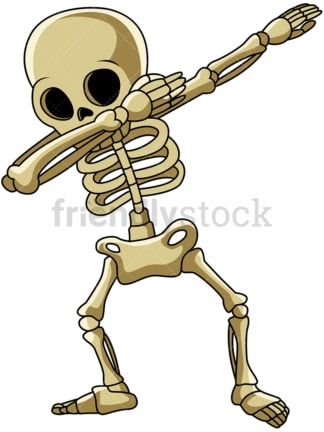 Dabbing skeleton cartoon. PNG - JPG and vector EPS (infinitely scalable).