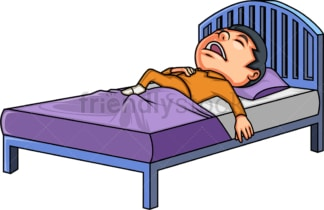 Little boy snoring while sleeping. PNG - JPG and vector EPS (infinitely scalable).
