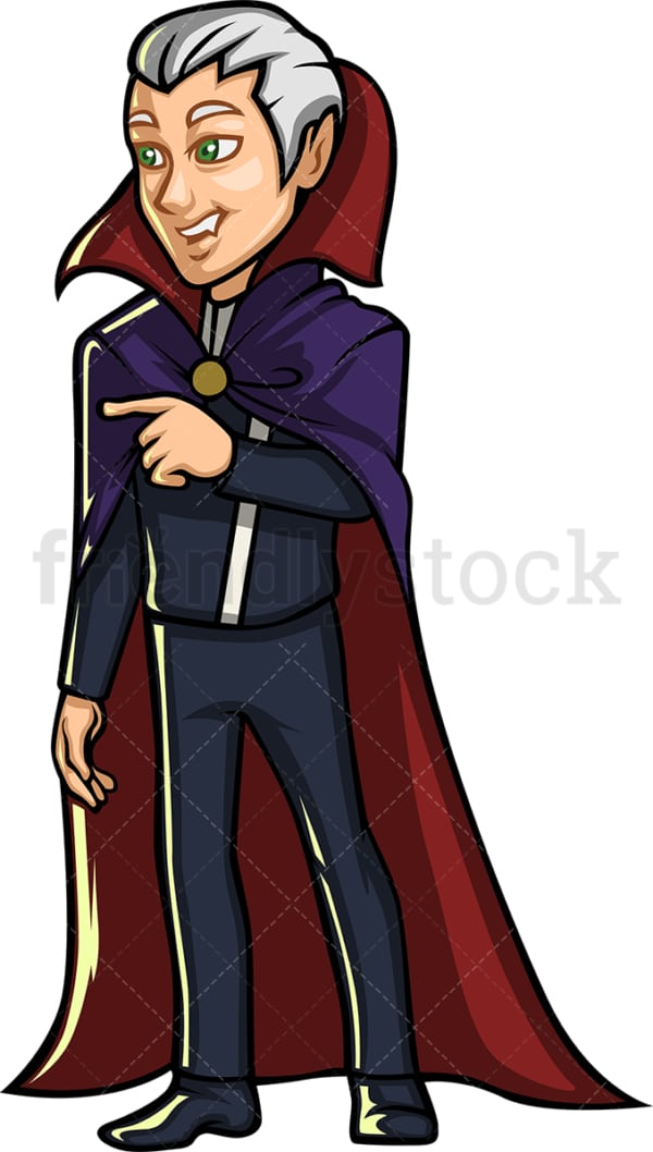 Vampire cartoon character. PNG - JPG and vector EPS (infinitely scalable).