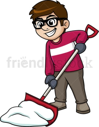 Man shoveling snow. PNG - JPG and vector EPS (infinitely scalable).