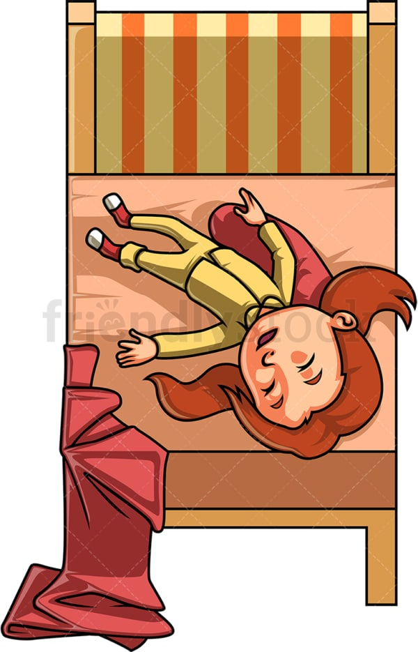 Little girl taking a nap. PNG - JPG and vector EPS (infinitely scalable).