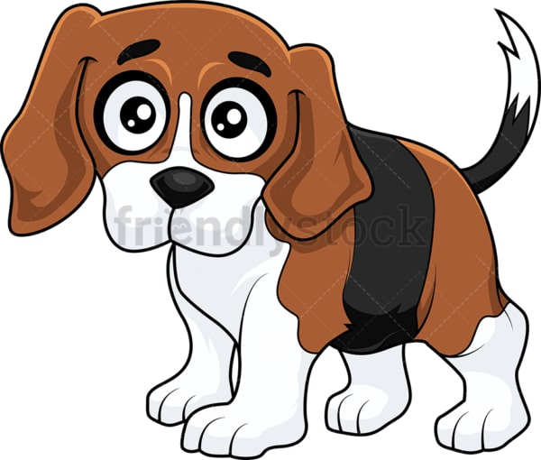 Cute beagle puppy with hazel eyes. PNG - JPG and vector EPS (infinitely scalable).