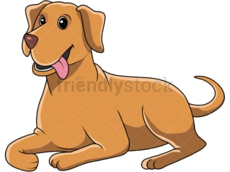 Elegant labrador retriever laying down. PNG - JPG and vector EPS (infinitely scalable).