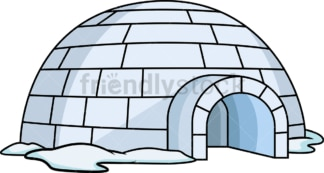 Igloo shelter. PNG - JPG and vector EPS (infinitely scalable).