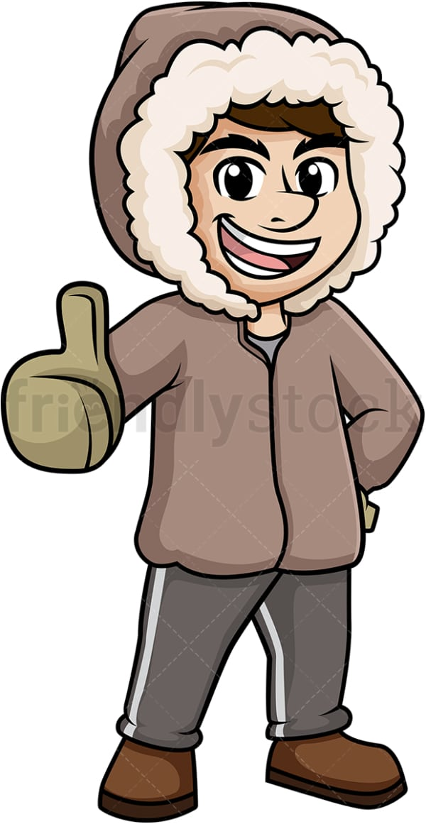 Man in winter clothing. PNG - JPG and vector EPS (infinitely scalable).