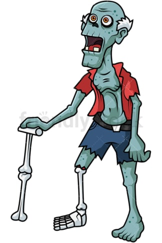 Old man zombie cartoon. PNG - JPG and vector EPS (infinitely scalable).