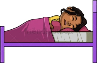 African-American girl taking a nap. PNG - JPG and vector EPS (infinitely scalable).