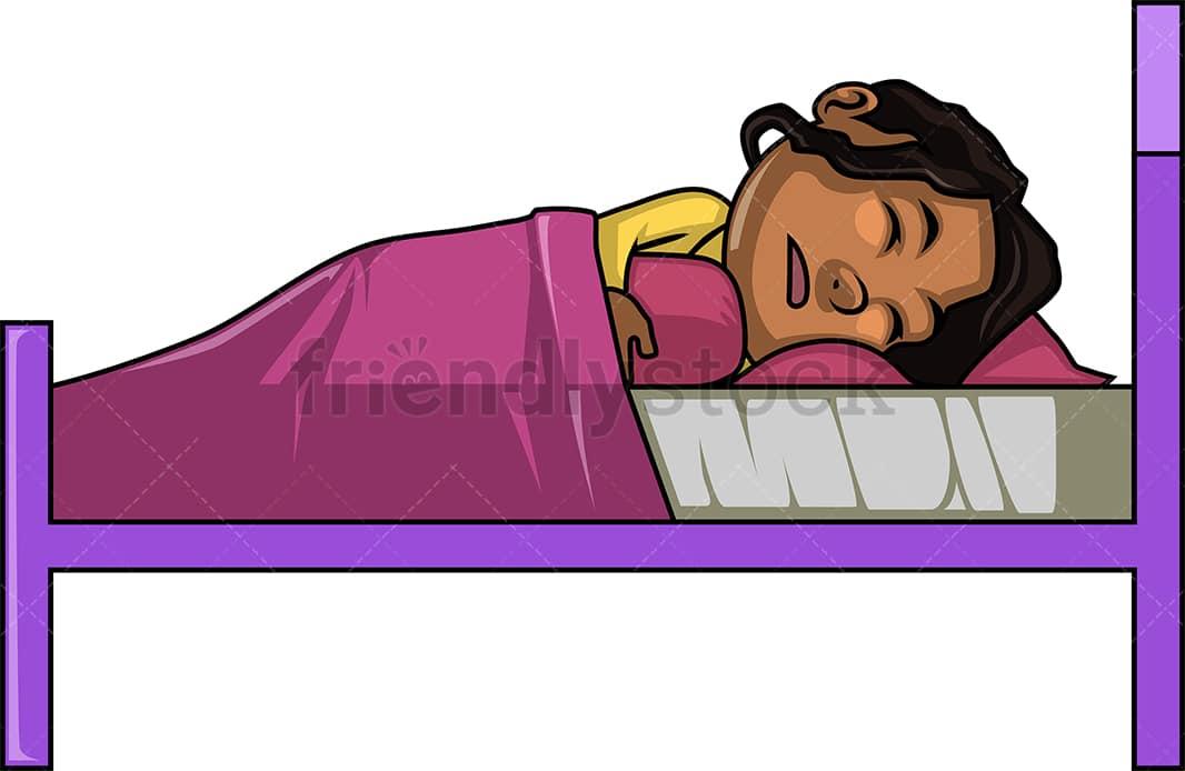 Black Girl Sleeping Cartoon Clipart - Friendlystock-6010