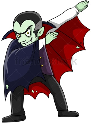 Dabbing vampire cartoon. PNG - JPG and vector EPS (infinitely scalable).