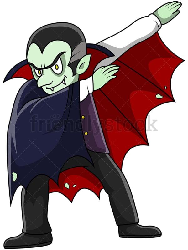 Dabbing vampire cartoon. PNG - JPG and vector EPS (infinitely scalable).