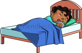 African-American kid sleeping. PNG - JPG and vector EPS (infinitely scalable).