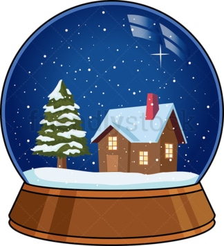 Christmas snow globe. PNG - JPG and vector EPS (infinitely scalable).