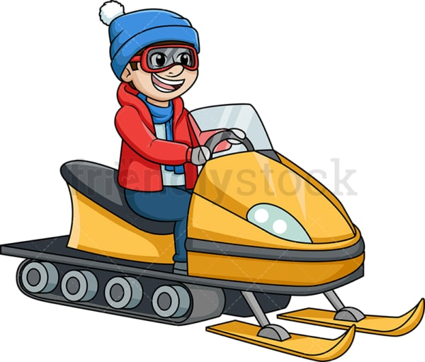 Man on a snowmobile. PNG - JPG and vector EPS (infinitely scalable).