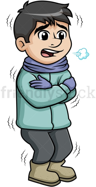 Man Walking Dog In The Winter Cartoon Clipart Vector - Friendlystock