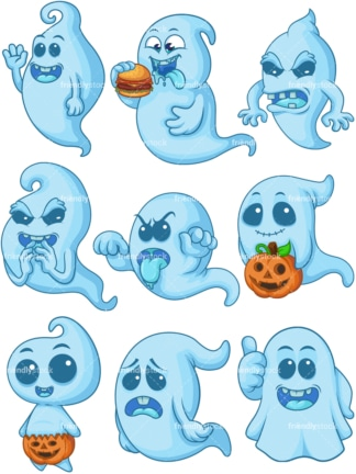 Blue ghost. PNG - JPG and vector EPS file formats (infinitely scalable).
