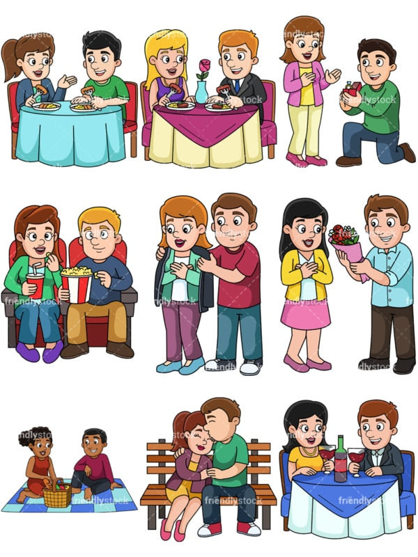 Couples dating. PNG - JPG and vector EPS file formats (infinitely scalable).