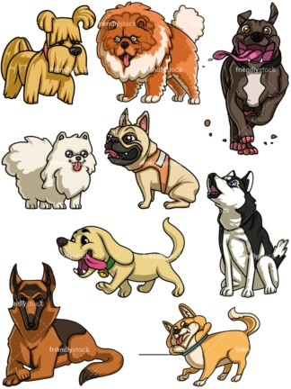 Dogs collection five. PNG - JPG and vector EPS file formats (infinitely scalable).