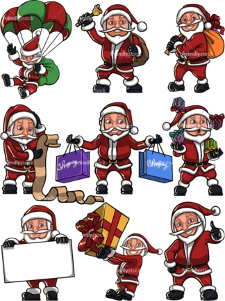 Short santa claus. PNG - JPG and vector EPS file formats (infinitely scalable). Image isolated on transparent background.