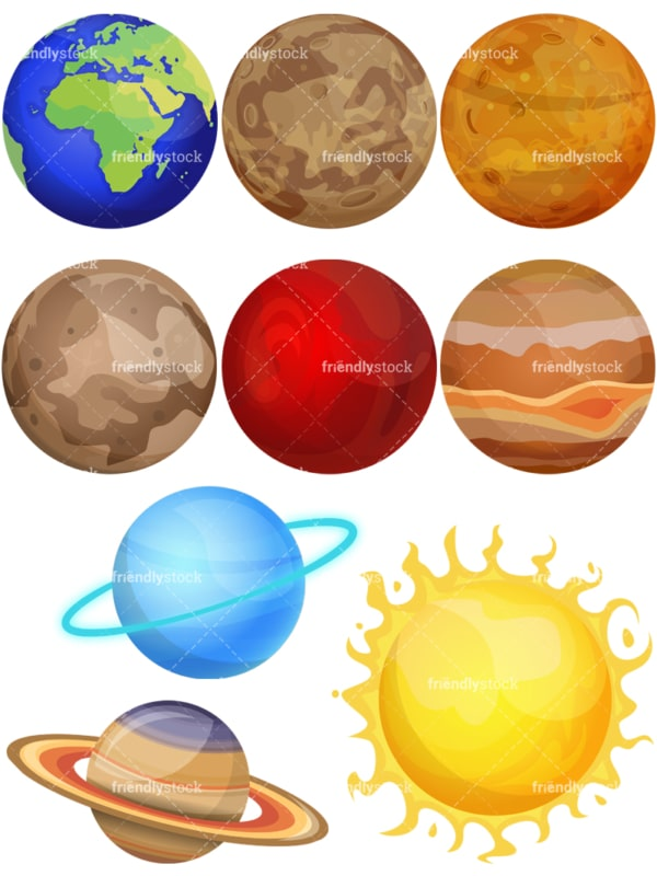 Solar System. PNG - JPG and vector EPS (infinitely scalable).