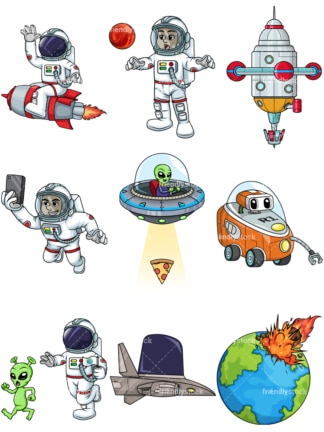 Space bundle. PNG - JPG and vector EPS file formats (infinitely scalable).