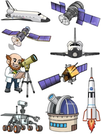 Space tech. PNG - JPG and vector EPS file formats (infinitely scalable).