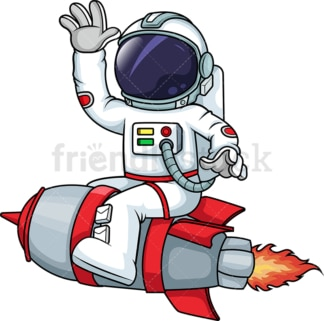 Astronaut on rocketship. PNG - JPG and vector EPS (infinitely scalable).