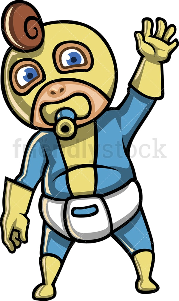 Male baby superhero. PNG - JPG and vector EPS (infinitely scalable).