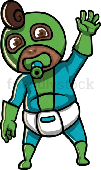 Black baby boy superhero costume. PNG - JPG and vector EPS file formats (infinitely scalable). Image isolated on transparent background.