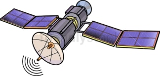 Communications satellite. PNG - JPG and vector EPS (infinitely scalable).