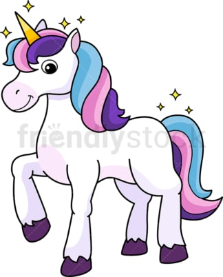 Majestic unicorn. PNG - JPG and vector EPS (infinitely scalable).