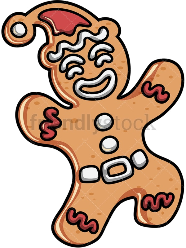 Cute gingerbread man. PNG - JPG and vector EPS file formats (infinitely scalable).