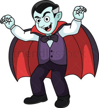 Adorable vampire. PNG - JPG and vector EPS (infinitely scalable).