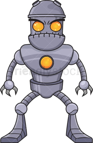 Upset robot. PNG - JPG and vector EPS (infinitely scalable).