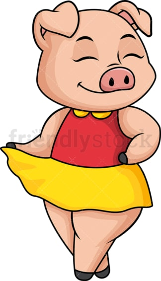 Female pig. PNG - JPG and vector EPS (infinitely scalable).