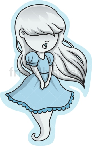 Little girl ghost. PNG - JPG and vector EPS (infinitely scalable).
