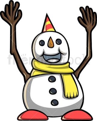 Cute happy snowman. PNG - JPG and vector EPS file formats (infinitely scalable).