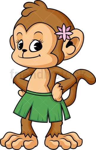 Female monkey. PNG - JPG and vector EPS (infinitely scalable).